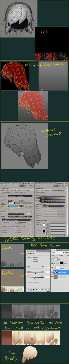 tutorial02 - hair texturing by EelGod.deviantart.com on @deviantART