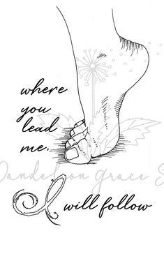"""You Lead, I will follow"" Bible Faith Prayer Journaling Printable | Scrapbooking - Digital Art #ad"