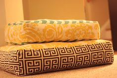 Mandy Made: Giant Floor Pillows... I made one today. I made the 36 inch one. It is huge, heavy, and very comfortable