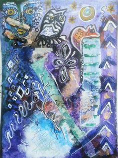 Nocturnal by mimuluxART on Etsy India Ink, Gouache, Artworks, Original Art, Fine Art, Handmade Gifts, Artist, Crafts, Etsy