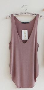Loose Design Deep V Neck Tank Top - Modal Sleeveless 4 Colors