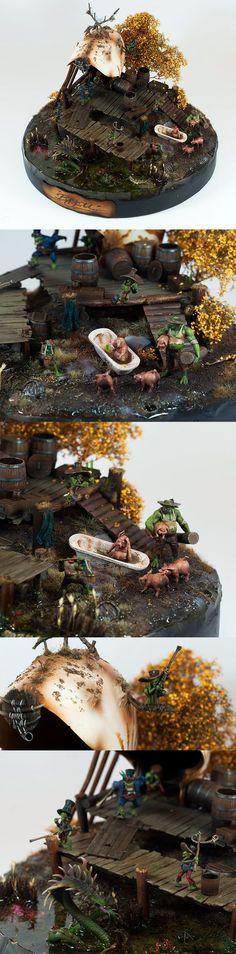 Bayou Swamp Gremlin - Malifaux diorama