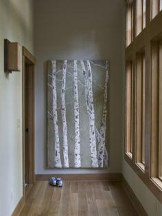 wood trim + birch tree art