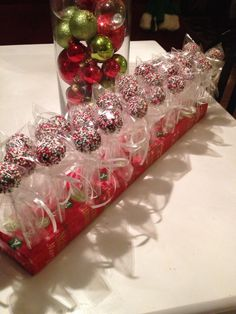 Christmas Cake-pops I made for a xmas party