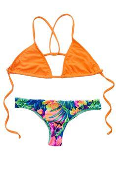 KaiKini Bikinis - Spiced Pumpkin Comfy Triangle Top, $52.00 (http://www.kaikini.com/spiced-pumpkin-comfy-triangle-top/)