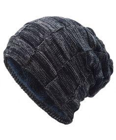 Skull Caps Cute Kawaii Cat Christmas Tree Winter Warm Knit Hats Stretchy Cuff Beanie Hat Black