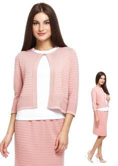 Stylish office looks for summer time: Knitwear suit