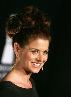 Debra Messing Gold Dangle Earrings -