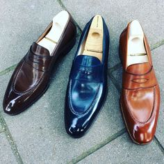 """saintcrispins: """"Mod. 539 - the Penny loafer with hand stitched apron in variations. #saintcrispins #pennyloafer """""""