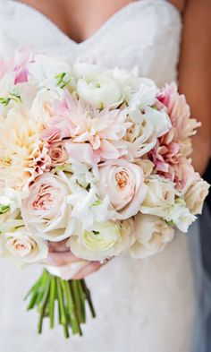 Pastel Summer Wedding Bouquet / http://www.himisspuff.com/spring-summer-wedding-bouquets/2/