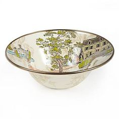 MacKenzie-Childs - Aurora Enamel Breakfast Bowl