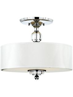 Reproduction Lighting. Downtown Semi-Flush Ceiling Light in Polished Chrome