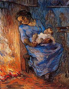 El marido está en el mar Van Gogh 1889