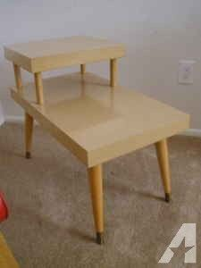 BLONDE 50's RETRO VINTAGE MERSMAN 2 TIER SIDE / END TABLE - (LITTLETON) for Sale in Vermont Classifieds - AmericanListed.com