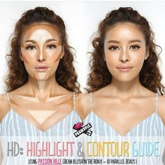 Date: Unknown Technique: Face Highlight and Contour Source: Beauty-how-to. Date: Unknown Technique: Face Highlight and Contour Source: Beauty-how-to.blo… Example of: Highlight and Contour Zones Contour Makeup, Contouring And Highlighting, Beauty Makeup, Hair Makeup, Hair Beauty, Body Contouring, Eyebrow Makeup, Where To Contour, Where To Highlight