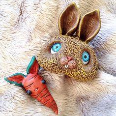 #rabbit with his #friend - Mr. #carrot #wip #handmade #handwork #ooak #ooakdoll #arttoy #artdoll #polymerclayart #mosweetfactory #niezchinzpasji #art #artist #originalart #softsculpture #sculpted #sculpture #polymerclay #clay #fimo #modelina #animal