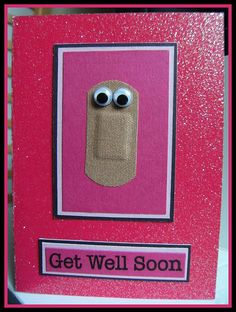 Get Well Soon card. Adapt for book hospital or first aid or similar.
