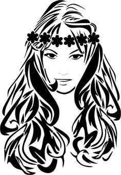 Eigenmarke Stencil Schablone Flower Girl