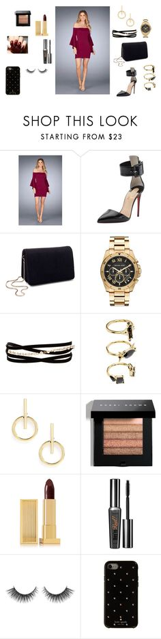 """""""Date Night with Bae"""" by newyorkdressonline ❤ liked on Polyvore featuring La Femme, Christian Louboutin, Miss Selfridge, Michael Kors, Kenneth Jay Lane, Noir Jewelry, Sole Society, Bobbi Brown Cosmetics, Lipstick Queen and Kate Spade"""