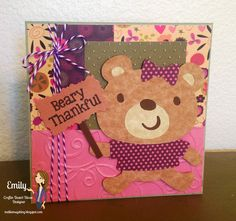 Cricut Create A Critter Thank You Card using CDD stamps
