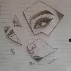 Sie brach den Spiegel mit ihrem knalligen Glanzlicht und dem scharfen Flügel, n… Sie brach den Spiegel mit ihrem knalligen Glanzlicht und dem scharfen Flügel, nur während des Unterrichts. Sad Drawings, Girl Drawing Sketches, Dark Art Drawings, Pencil Art Drawings, Broken Drawings, Drawing Ideas, Sad Girl Drawing, Tattoo Sketches, Paper Art Projects