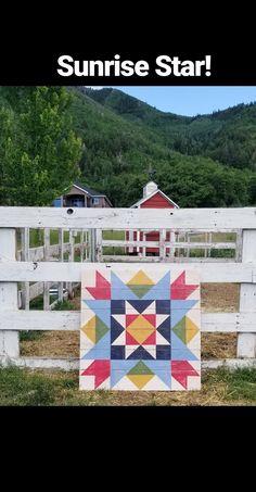 Image of Sunrise Star Barn Quilt