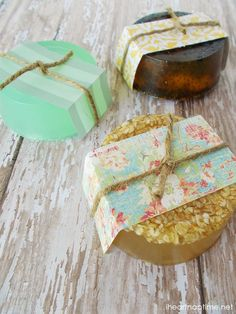 Homemade Hand Soaps -fun and inexpensive handmade gift.