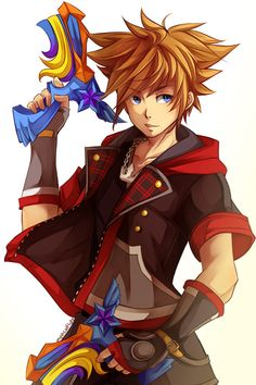 Sora KH3 ~ so I have a friend who isn't into Kingdom Hearts but their girlfriend is so I showed her what Sora looks like in Kingdom Hearts 3 and she was so shocked.