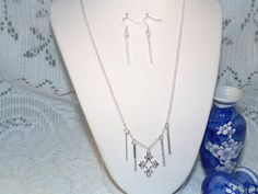 Sterling Silver Delecate Necklace And by SandiesGiftCorner on Etsy