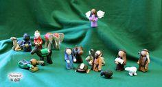 Nativity Standard Set Etsy - Pictureitinclay