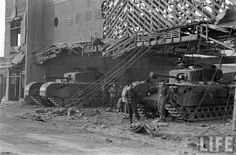 Korean War Seoul Han River Side British Churchill Tank,s Firing Churchill, Han River, Armored Fighting Vehicle, Korean War, Historical Pictures, Cold War, Military History, Life Images, World War Two