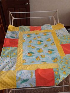 kids quilt with minky