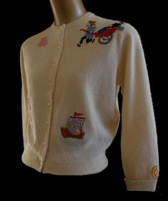 Vintage 50s Cashmere Cardigan Sweater