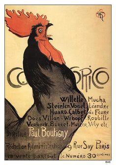 Théophile Steinlen, Cocorico cover, 1899