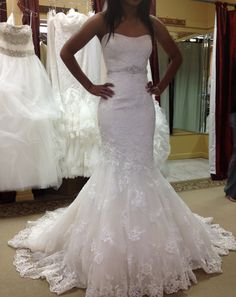 Love the shash on this dress.....Found on Weddingbee.com Share your inspiration today!