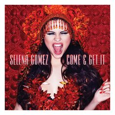 Selena Gomez's Come And Get It cover art is on fire ❤ liked on Polyvore