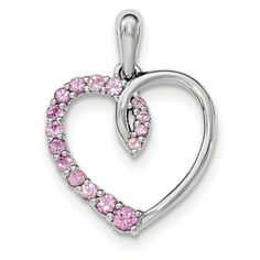 Sterling Silver Jewelry Pendants /& Charms Solid Stackable Expressions Medium Created Ruby Chain Slide