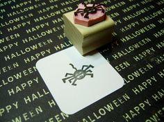 Mini Vampire Spider  Hand Carved Rubber Stamp by skullandcrossbuns, £4.25