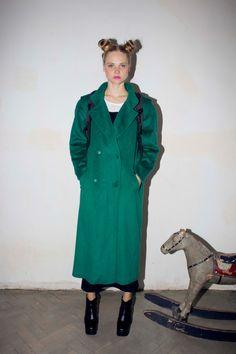 Emerald green, long winter coat, UNISEX. oversize.1990s. by WOODSTOCKofficial on Etsy https://www.etsy.com/listing/209701827/emerald-green-long-winter-coat-unisex