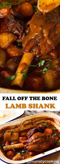 Lamb Recipes, Meat Recipes, Slow Cooker Recipes, Dinner Recipes, Cooking Recipes, Dinner Ideas, Dinner Entrees, Lamb Shank Stew, Kitchens