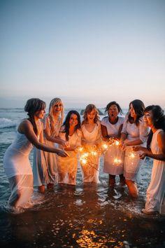 Sparklers on the Beach