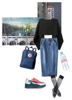 """""""Laundrette love"""" by megdrew ❤ liked on Polyvore featuring BEVZA, Fjällräven and Evian"""