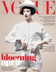 theladyflash:  Lindsey Wixson for Vogue Korea I love the hair cut on the wig she's wearing and paleness + red lips!
