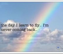 Inspiring image fly, inspire, quote, rainbow, sky - Resolution - Find the image to your taste Sky Images, Over The Rainbow, Rainbow Sky, Learn To Fly, Favim, Comebacks, Me Quotes, Romantic, Sayings