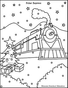 Polar Express Coloring Page
