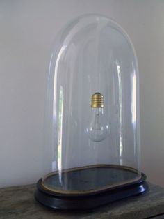 Lightbulb under cloche ~ génial !!!