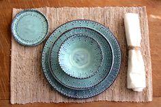 Dinnerware Set  4 Pieces  Dinner Salad Dessert by BackBayPottery, $114.00