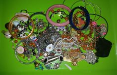 Misc junk destash jewelry lot for craft/repurpose by JensjewelryTreasures on Etsy