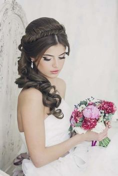 Art4studio long braided wedding hairstyle #weddings #hairstyles #bride #fashion ❤️http://www.deerpearlflowers.com/art4studio-wedding-hairstyles/