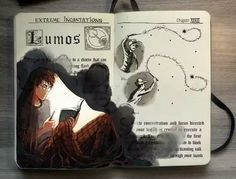 Lumos // Pinterest: @eleanorkirsty ♡ Lumos Harry Potter, Harry Potter Fan Art, Harry James Potter, Harry Potter World, Garri Potter, Mundo Harry Potter, Harry Potter Notebook, Harry Potter Bilder, Harry Potter Drawings